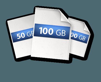 Documents with storage size