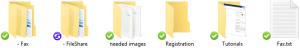 CloudSync Folder & File Status Icons