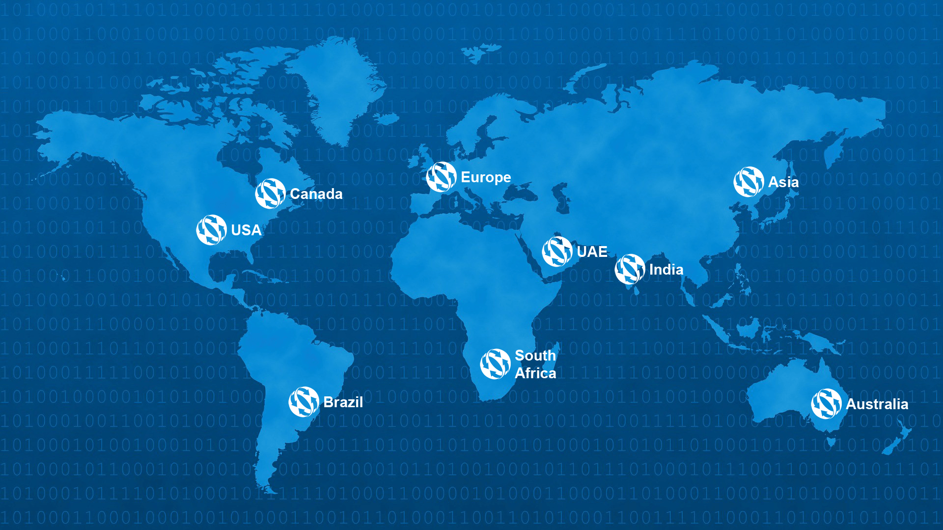 Worldwide Map of FilesAnywhere Azure coverage area